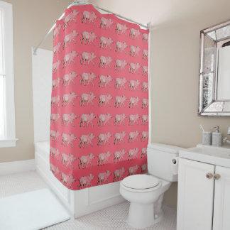 Piggy Pattern Shower Curtain