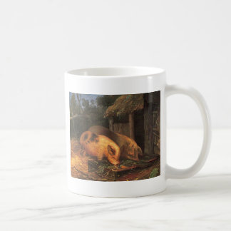 Pigs at a Trough by George Morland Coffee Mug