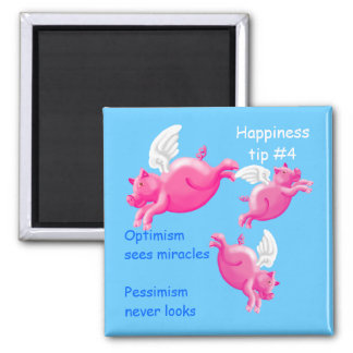 pigs might fly - optimism square magnet