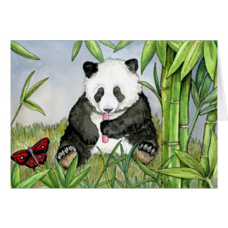 PiiPing the panda greeting card