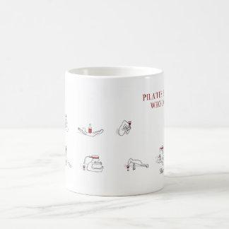 Pilates for people who love wine Harold's Planet Basic White Mug