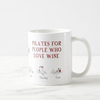 "Pilates for people who love wine ""Harold's Planet"" Basic White Mug"