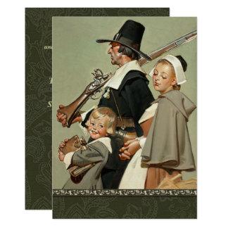 Pilgrim Family Thanksgiving Dinner Invitations
