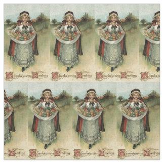 Pilgrim Woman Vintage Thanksgiving Fabric