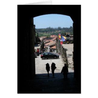 Pilgrims Entering Santiago Card