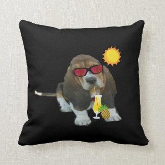 Pillow Baby Basset Hound Summer Time