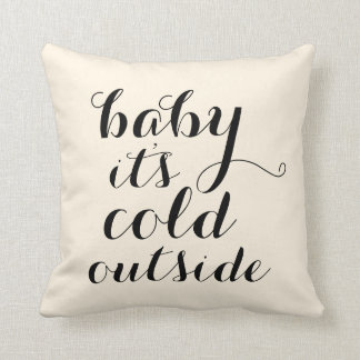 Pillow   Baby It's Cold Outside - offwhite/tan