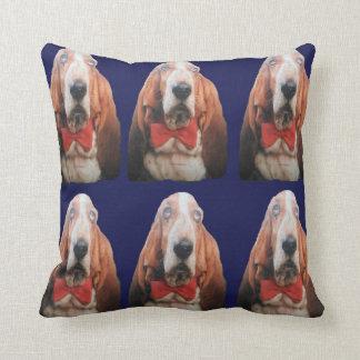 Pillow Basset Hounds, Blue Back