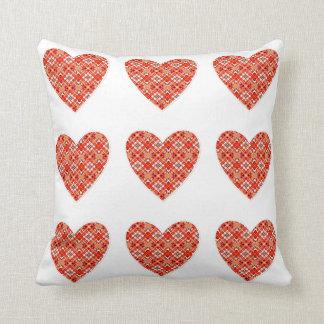 Pillow hearts throw cushion