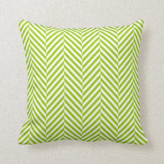 PILLOW modern herringbone pattern lime green