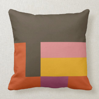 Pillow - Orange & Brown Blocks