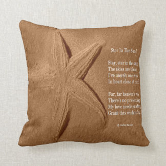 Pillow Poem Star In The Sand By Ladee Basset