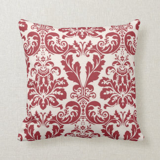 Pillow...red and white damask cushions