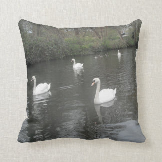 Pillow Swans Swimming
