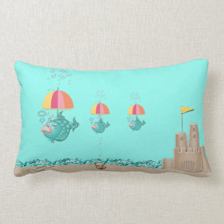Pillow with Fishes, Umbrellas, Sandcastle, Shells