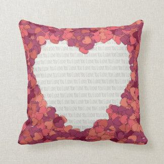 Pillow with the image of hearts throw cushions