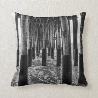 Pillows - Black and White Pier Photo