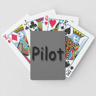 Pilot black bicycle playing cards
