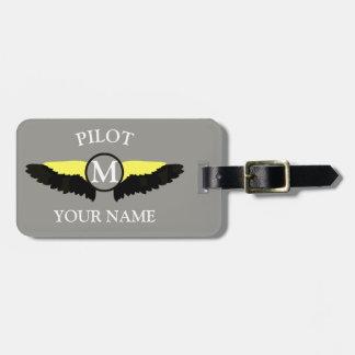 Pilot or aeroplane cabin crew luggage tag