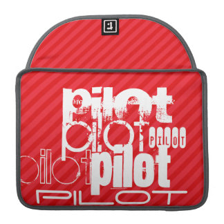 Pilot; Scarlet Red Stripes Sleeve For MacBooks