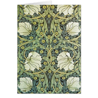 Pimpernel Wallpaper Pattern by William Morris Card