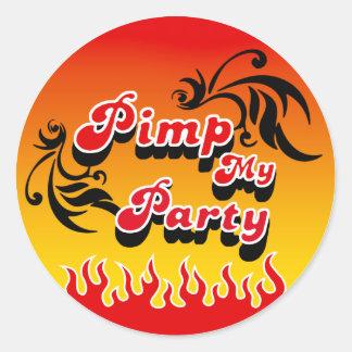 PimpMyParty Round Sticker