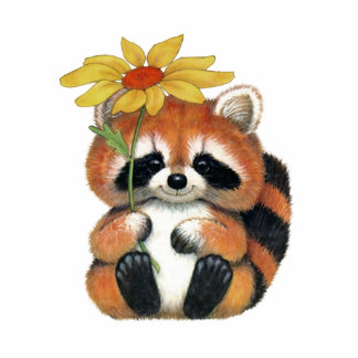 "Pin for clothes ""Raccoon "" Photo Sculpture Badge"