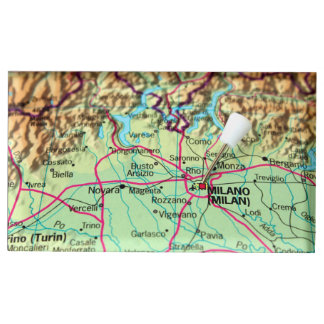 Pin Map of the city of Milan, Italy Table Card Holder