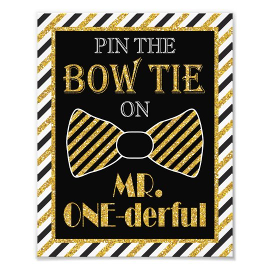 """Pin the Bow Tie on Mr. ONE-derful - 8"""" x 10"""" Print Photo"""