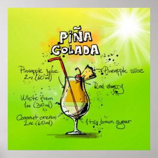 Pina Colada Cocktail Poster