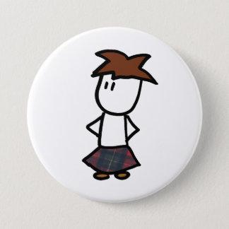 Pinback Button with Kilt Boy