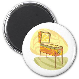 Pinball machine 6 cm round magnet