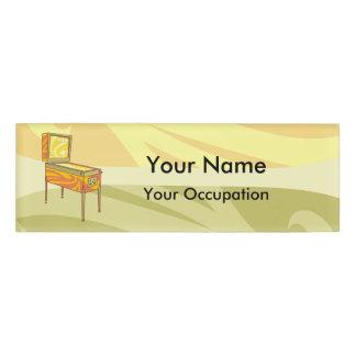 Pinball machine Name Tag