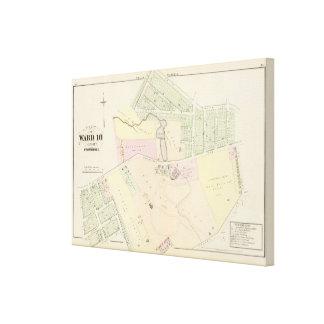 Pinckney Farm Oakland Plat Atlas Map Gallery Wrap Canvas