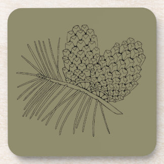 Pine Branch Two Beverage Coasters