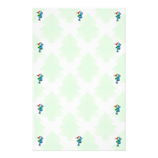 Pine Trees and Bluebirds Christmas Stationary Stationery