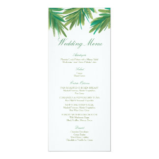 Pine Woods Watercolor | Wedding Menu 10 Cm X 24 Cm Invitation Card