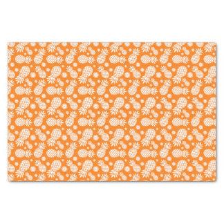 "Pineapple and daisy orange white tissue paper 10"" x 15"" tissue paper"