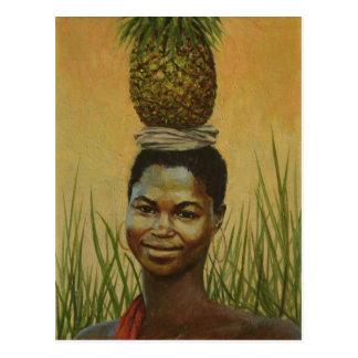 Pineapple Girl 2004 Postcard