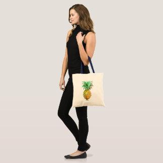 Pineapple Illustration Tropical Design Tote Bag