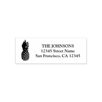 Pineapple logo self inking return address stamps