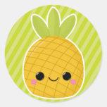 Pineapple on Green Stripes