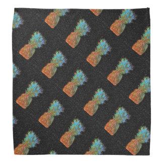 Pineapple Pattern Dark Bandana