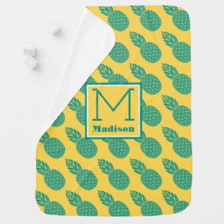 Pineapple Pattern | Monogram Baby Blanket