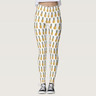 Pineapple Pattern Summer Leggings
