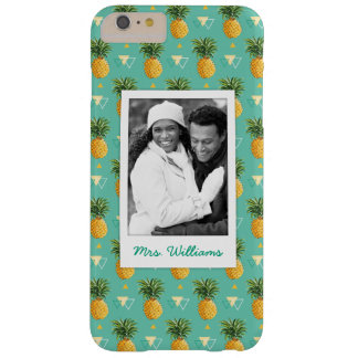 Pineapples Geometric | Add Your Photo & Name Barely There iPhone 6 Plus Case
