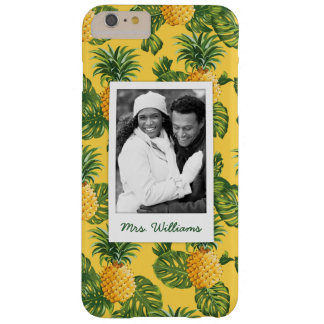 Pineapples & Leaves | Add Your Photo & Name Barely There iPhone 6 Plus Case