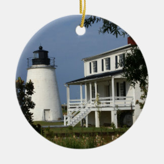 Piney Point Lighthouse Christmas Ornament