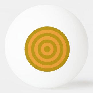 Ping Pong Ball - Gold and Orange Inner Circles