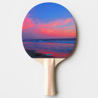 Ping Pong Paddle - Ocean Clouds